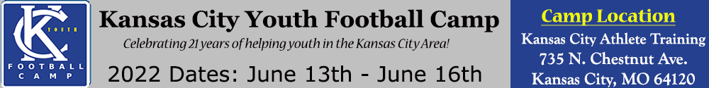 Kansas City Youth Football Camp at William Jewell College in Kansas City Missouri